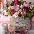 Natural Rose Garden ポットアレンジメントの画像1