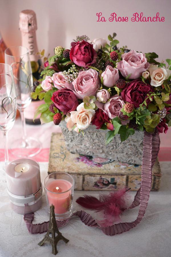 Natural Rose Garden ポットアレンジメント