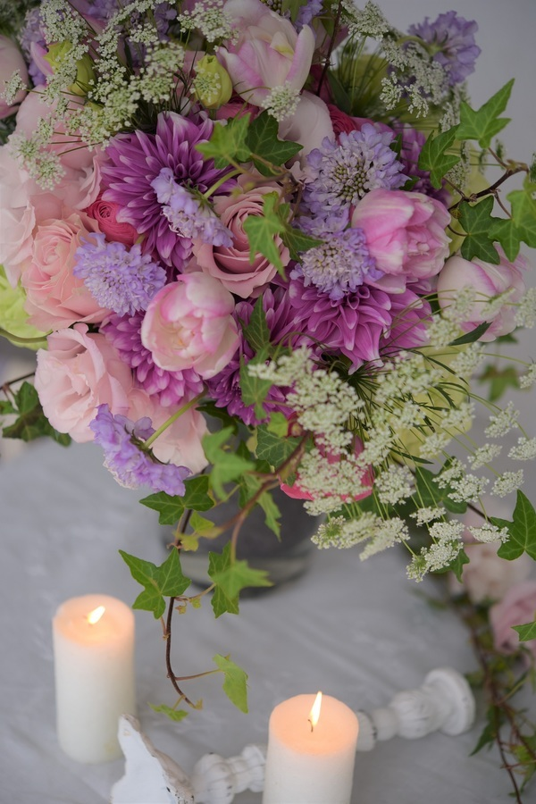お花とキャンドル