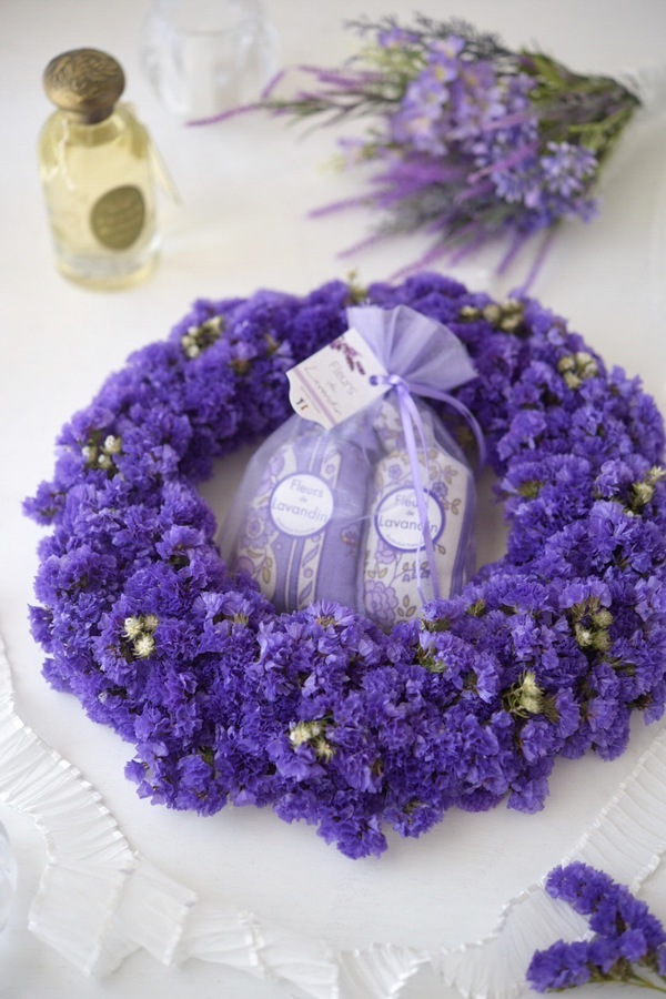 Statice wreath スターチスのリース