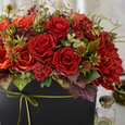 秋アレンジメント〜赤いバラに魅せられての画像3