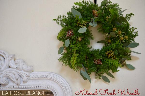 Natural Fresh Wreath ナチュラルクリスマスリース