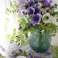 Purple flower decoration ❀˚パープルブーケの画像1