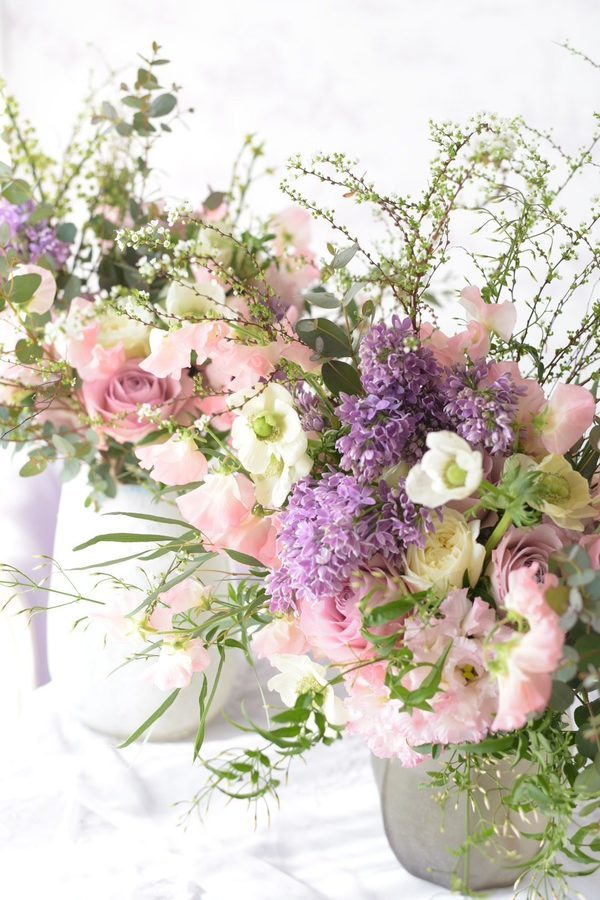 Spring flower bouquets