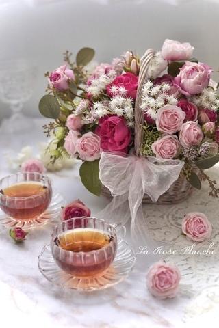 Rose rose ! Panier arrangement