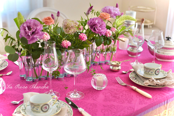 『四月の花器』を使ってお花遊び*マリーアントワネットをイメージするテーブル