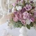 エレガントなモーブピンク薔薇アレンジメントの画像2