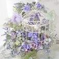 Romantic Bird Cage *artificial flower arrangement  ロマンティック な鳥かごの画像1