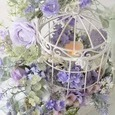 Romantic Bird Cage *artificial flower arrangement  ロマンティック な鳥かごの画像2