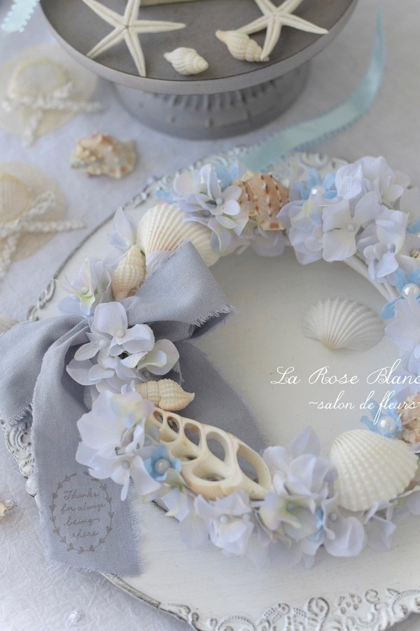 Summer Wreath with shell