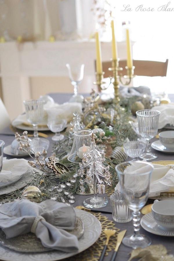 クリスマスレッスンのテーブル