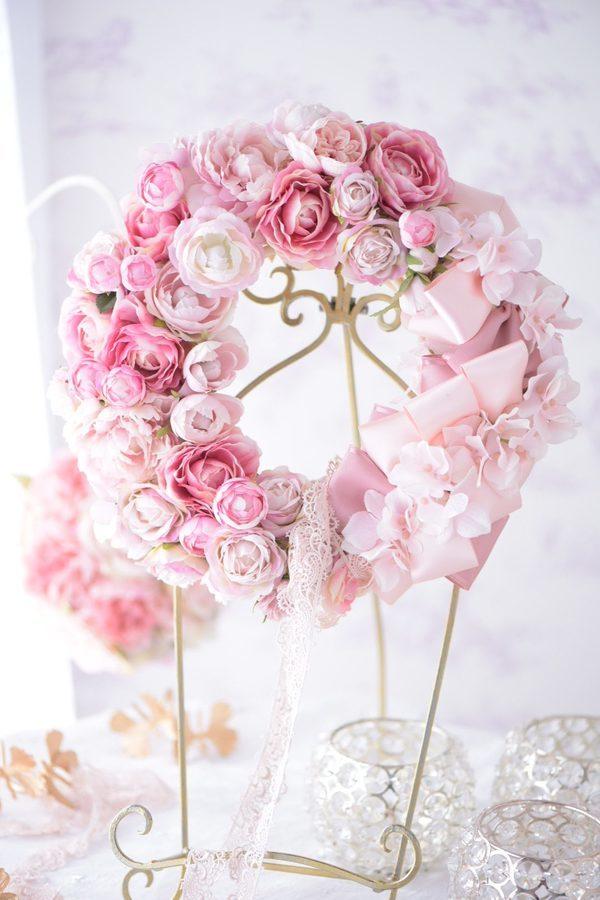 Pink Ribbon Wreath