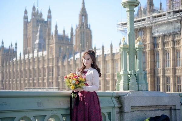 ロンドン*ウェストミンスターで思い出のブーケ撮影