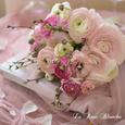 ピンク色ラナンキュラスのブーケの画像2