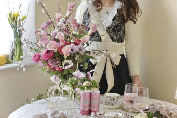 イギリスで*ひな祭り*Flower Tea Time