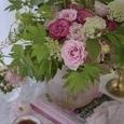 愛らしいピンクのバラのブーケの画像5