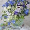 涼やかな夏のブルー&パープルブーケの画像1