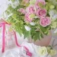 エレガントドレスと言う名のピンクの薔薇のブーケ&リントンツイードスカートの画像3