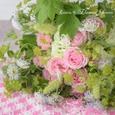 エレガントドレスと言う名のピンクの薔薇のブーケ&リントンツイードスカートの画像2