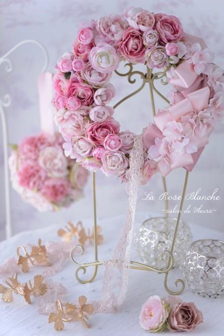 Princess Wreath アーティフィシャルフラワー✖️リボンリース