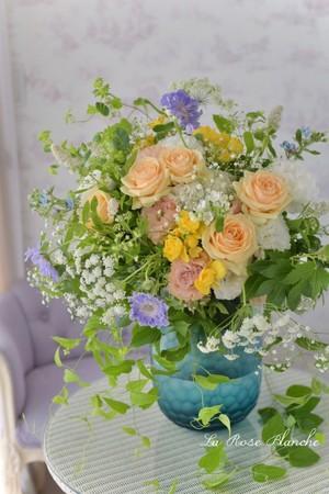 フレッシュローズブーケ (季節の花+)
