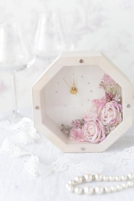 八角形の花時計
